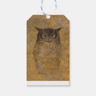 Owl Japanese Fine Art Gift Tags