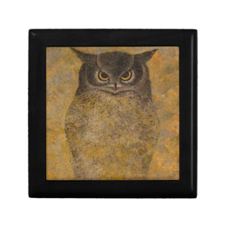 Owl Japanese Fine Art Small Square Gift Box