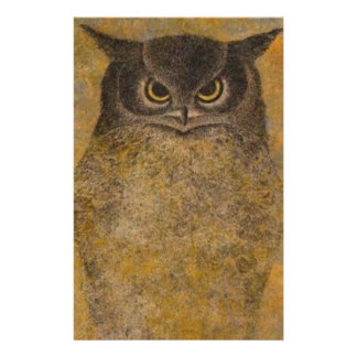 Owl Japanese Fine Art Stationery