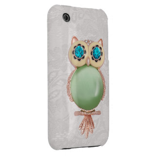 Owl Jewel & Paisley Lace iPhone 3G Case Case-Mate iPhone 3 Cases