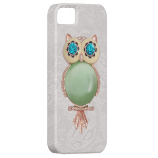 Owl Jewel & Paisley Lace PRINTED IMAGE Case For The iPhone 5