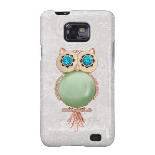Owl Jewel & Paisley Lace Samsung Galaxy Case Samsung Galaxy SII Case