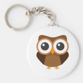 Owl keyring basic round button key ring