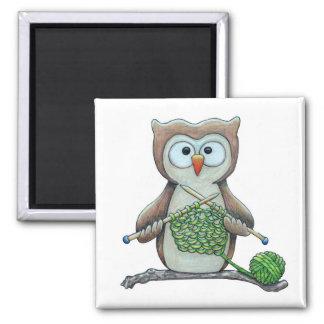 Owl Knitter Magnet