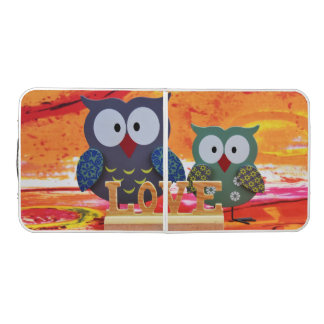 Owl love beer pong table