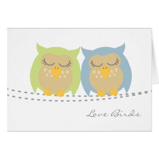 Owl Love Birds Note Cards