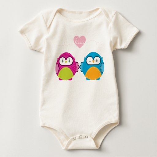 OWL LOVE :: bright girl + boy Baby Bodysuit