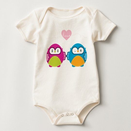 OWL LOVE :: bright girl + boy Baby Bodysuit
