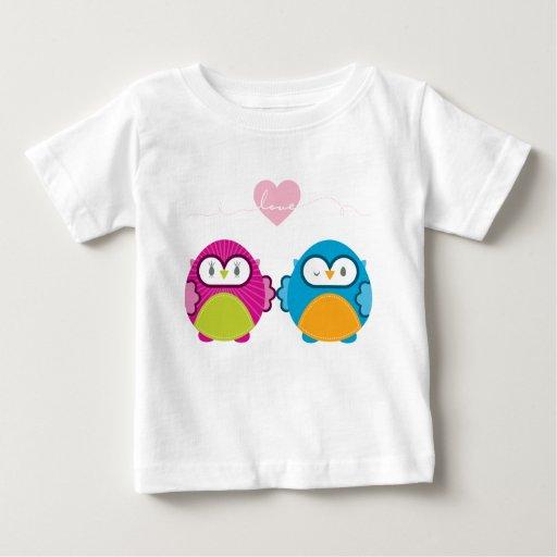 OWL LOVE :: bright girl + boy Baby T-Shirt