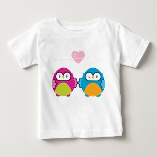 OWL LOVE :: bright girl + boy Baby T-Shirt