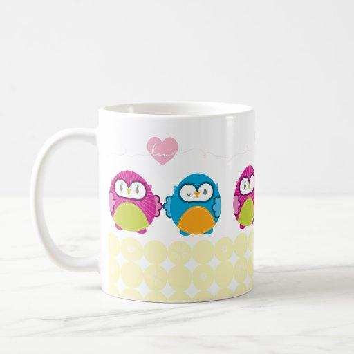 OWL LOVE :: bright girl + boy Basic White Mug