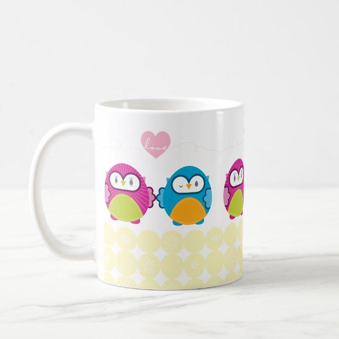 OWL LOVE :: bright girl + boy Coffee Mug