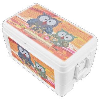 Owl love chest cooler