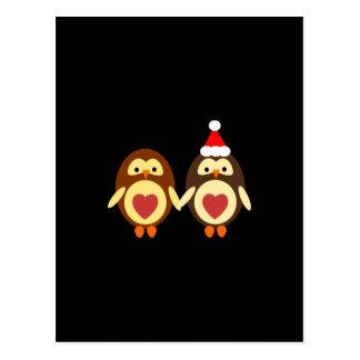 Owl Love Christmas Postcard
