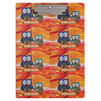 Owl love clipboards