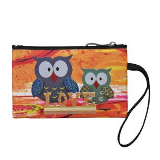 Owl love coin purse