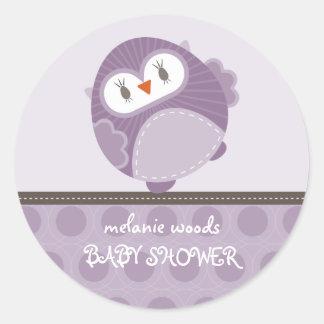 OWL LOVE :: dancing owl 1 Round Sticker
