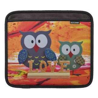 Owl love iPad sleeve