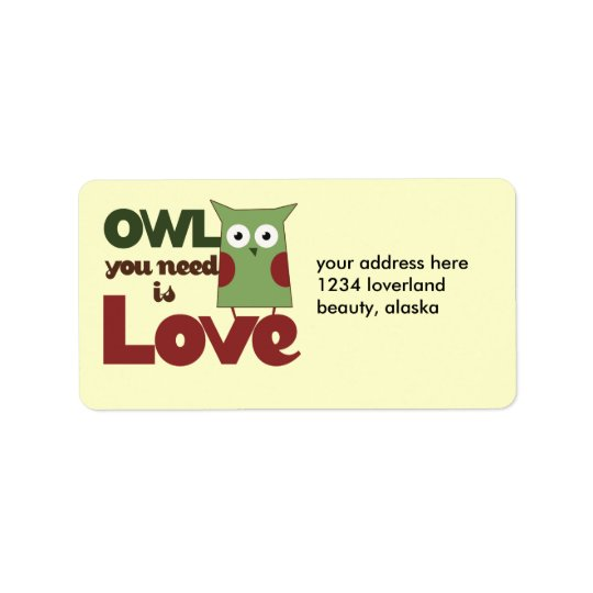 Owl Love Label