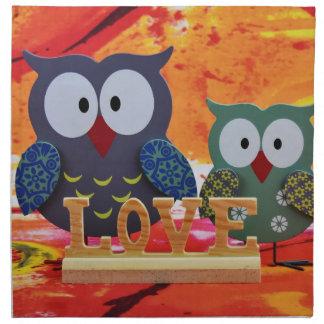Owl love napkin