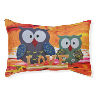 Owl love pet bed