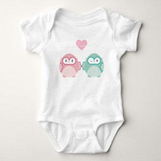 OWL LOVE :: soft girl + boy Baby Bodysuit