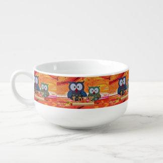 Owl love soup mug