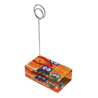Owl love table card holder