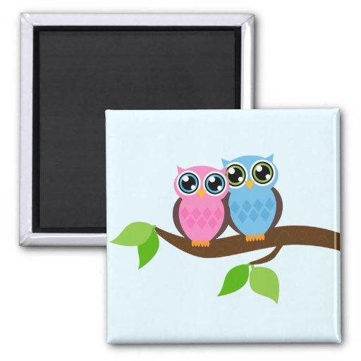 Owl love you fridge magnets
