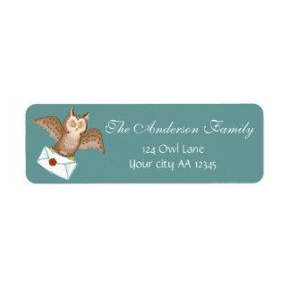 Owl mail adress return address label