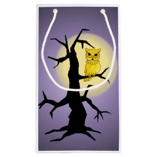OWL, MOON & TREE  by SHARON SHARPE Small Gift Bag