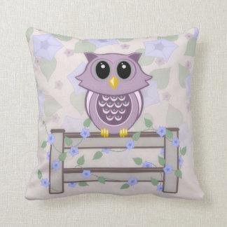 Owl Morning Glory American MoJo Pillow