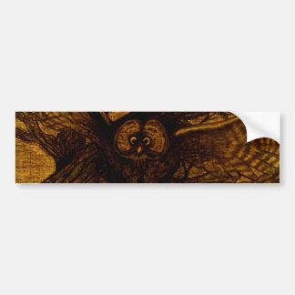 Owl, Night Flight Bumper Sticker