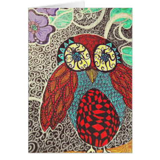 owl notecards blank card