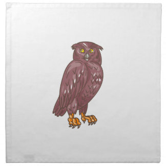 Owl Observing Looking Drawing Napkin