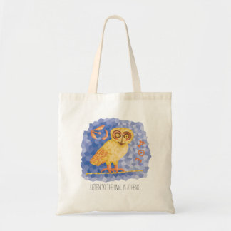 Owl of Athena Tote Bag