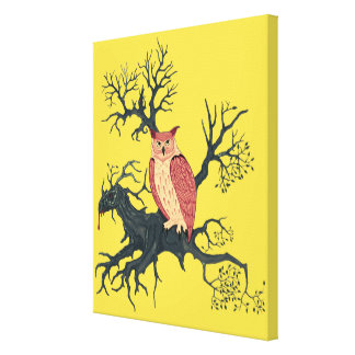 Owl of Fire & Dragon Tree Canvas Print