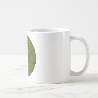 owl on a branch coffee mug