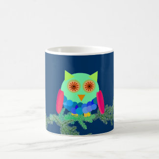 Owl on a Branch Coffee Mugs
