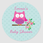 Owl on a Branch Personalised Sticker for Girl