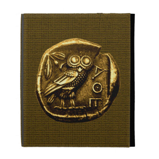 Owl on ancient greek coin iPad cases