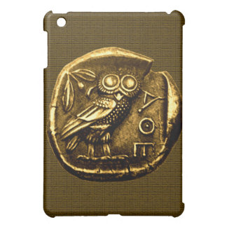 Owl on ancient greek coin iPad mini cover