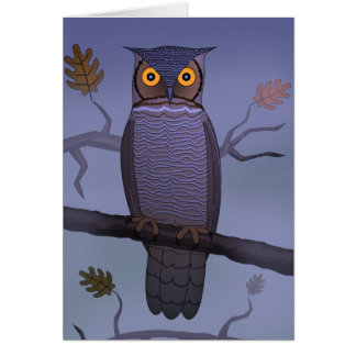 Owl on Branch Card