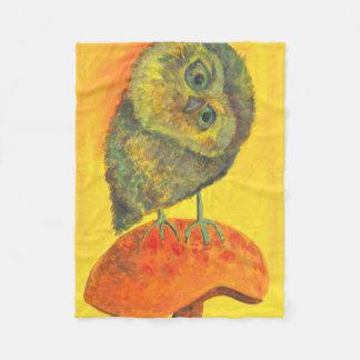 owl on mushroom blanket
