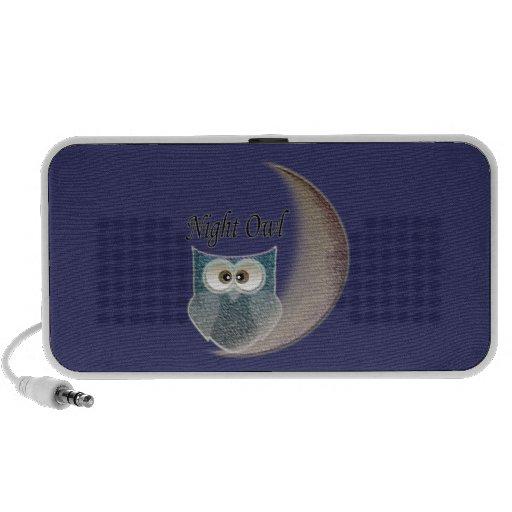 Owl on the Moon Art iPhone Speakers