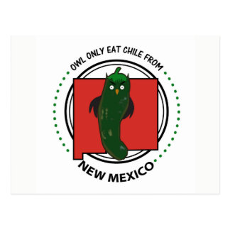 Owl Only Eat Chile from New Mexico Postcard