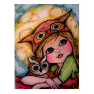 Owl Only Have Eyes For You - Owl Art Postcard