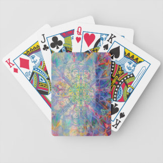 Owl Painting in Cool Gem Tones Bicycle Playing Cards