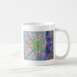 Owl Painting in Cool Gem Tones Coffee Mug