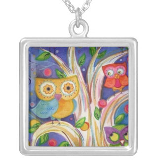 Owl Painting Necklace